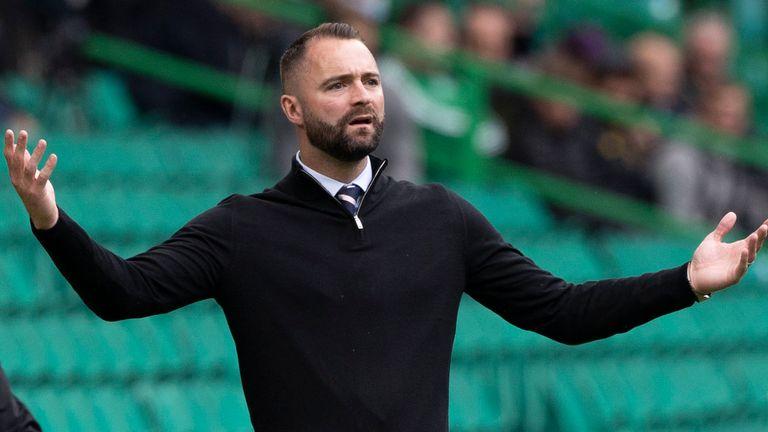 Glasgow, Écosse - 08 AOT : le manager de Dundee James McPeak lors d'un match de Premier League entre Celtic et Dundee au Celtic Park, le 8 août 2021, à Glasgow, en Écosse.  (Photo de Craig Williamson/Groupe SNS)