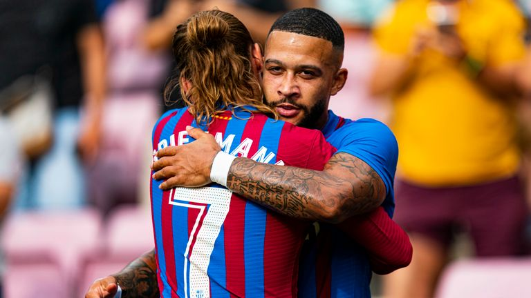 Memphis Depay was on target for Barcelona