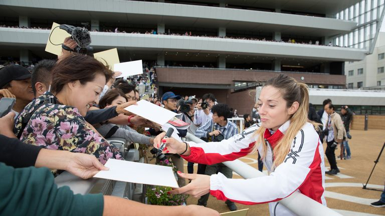 Michel is a hugely popular figure among racing fans in Japan