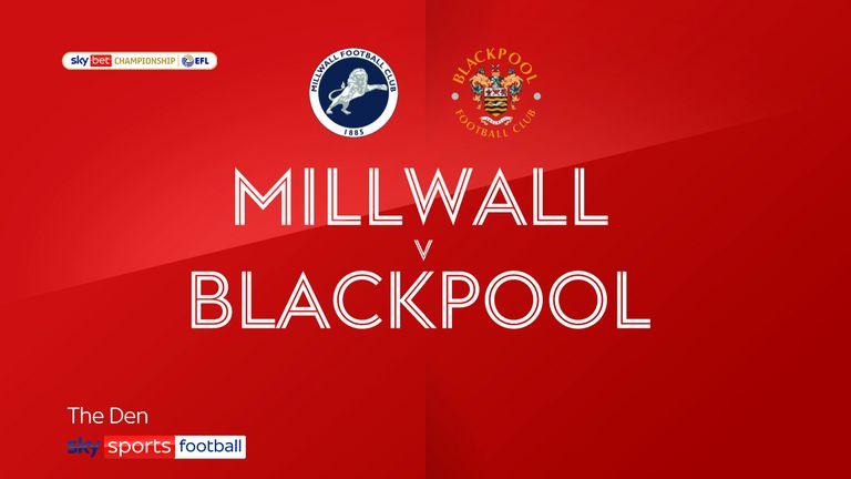 millwall v blackpool badge