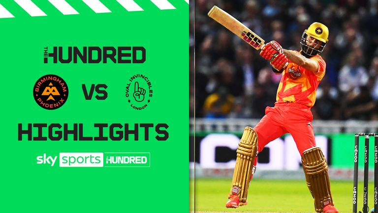 Highlights from the clash between between Birmingham Phoenix and Oval Invincibles in The Hundred.