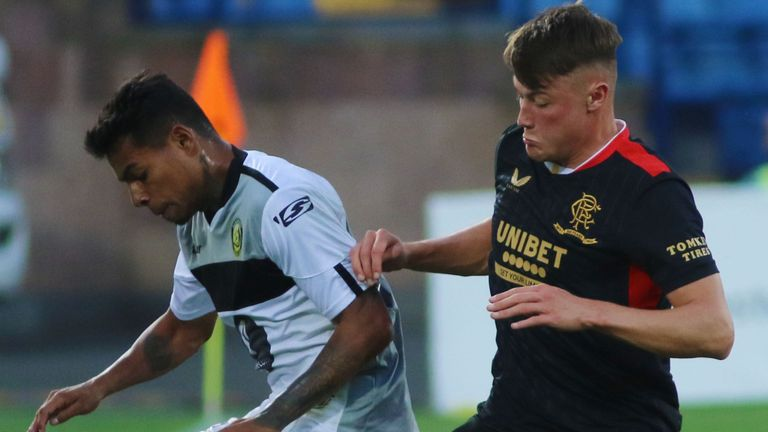 Nathan Patterson (right) started in place of captain James Tavernier at right-back