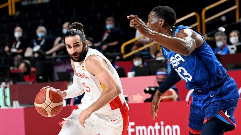 Ricky Rubio scored 38 points on 65% shooting but it wasn't enough for Spain to avoid elimination