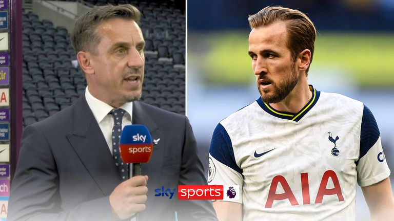 Gary Neville on Harry Kane following Spurs 1-0 win over Manchester City.
