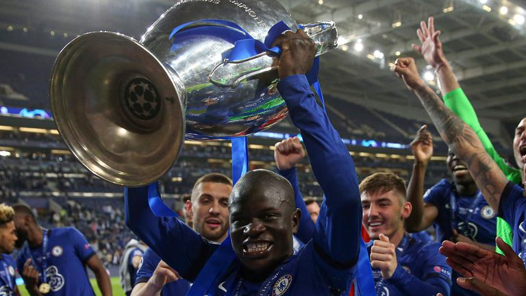 N'Golo Kante is among a cohort of Chelsea players who shone in the Champions League last season