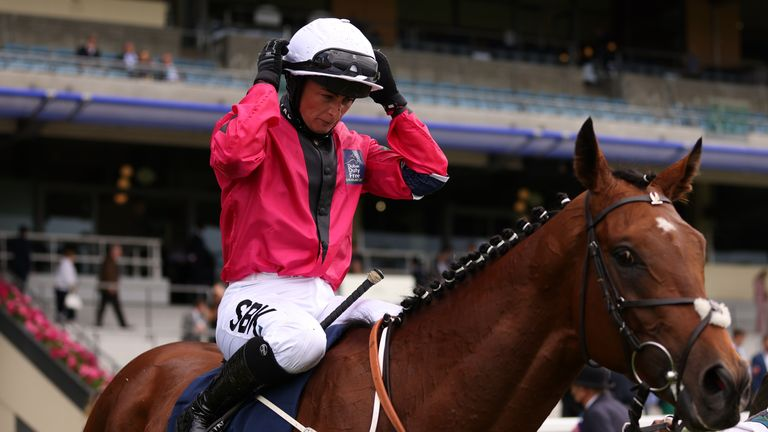 Nicola Currie sealed the Silver Saddle awarded with victory on State of Bliss in the Shergar Cup Classic