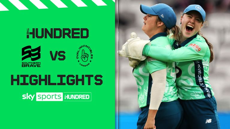 Highlights from the Oval Invincibles' victory over Southern Brave in the final of The Hundred at Lord's.