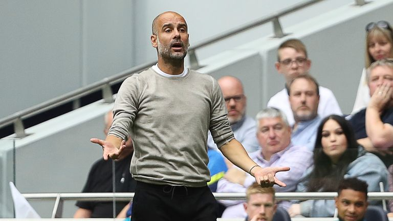 Pep Guardiola cuts a frustrated figure at Spurs