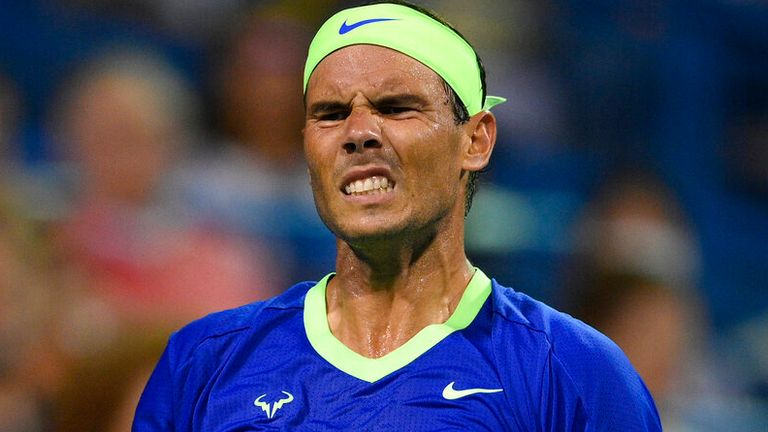 Rafael Nadal admits suffering from a problem with his left foot with the US Open approaching fast