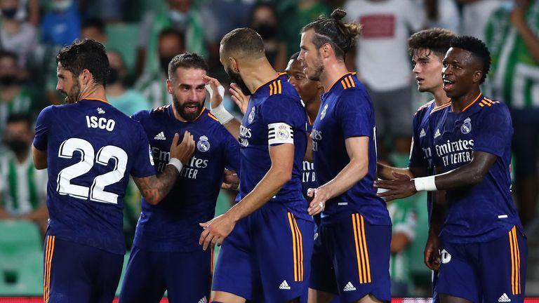 Felicitaties aan Dani Carvajal nadat hij Real Madrid op voorsprong zette bij Real Betis