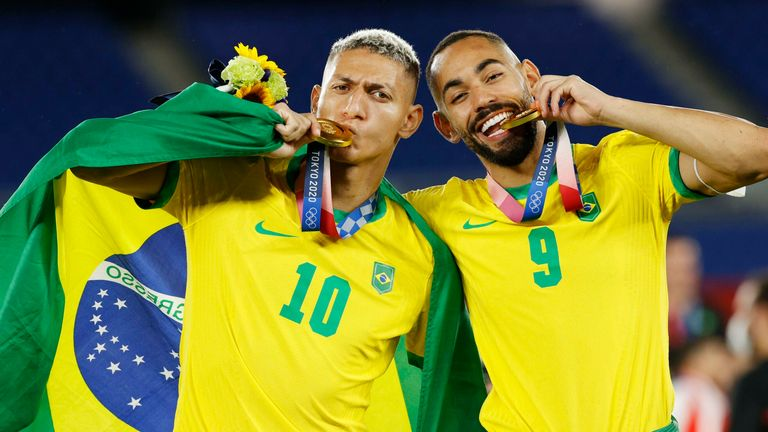 Richarlison has played 15 times for Brazil this summer