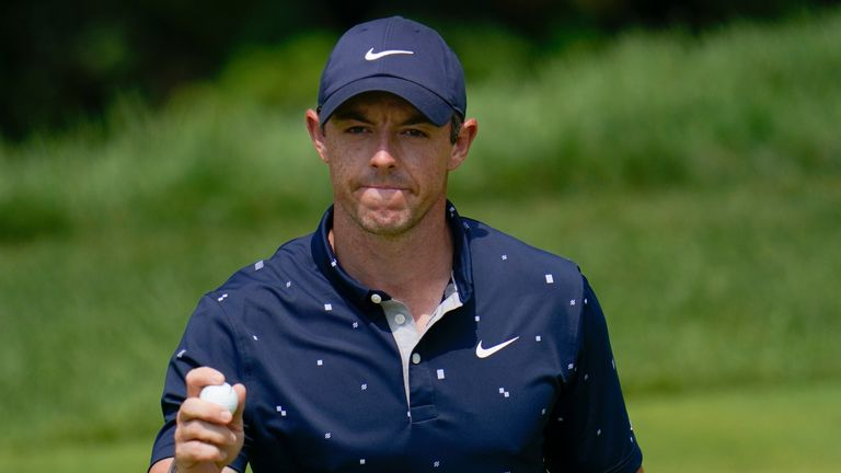Rory McIlroy will start the final round just four behind