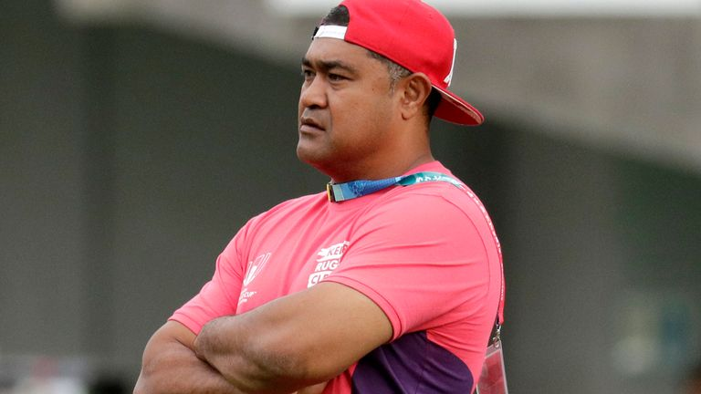 Toutai Kefu coached Tonga at the 2019 Rugby World Cup