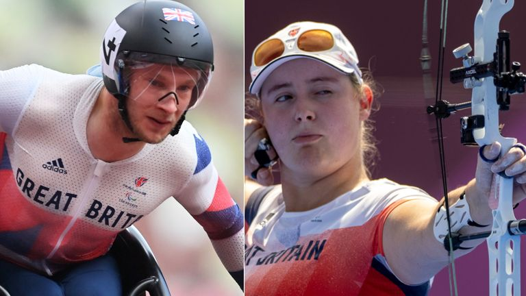 Andrew Small won gold in the men's T33 100m final and Phoebe Paterson Pine won gold in archery
