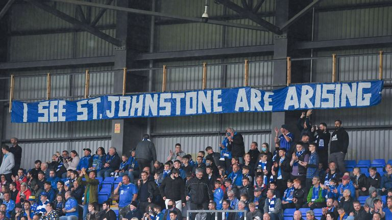 St Johnstone supporters packed into McDiarmid Park for an historic European night