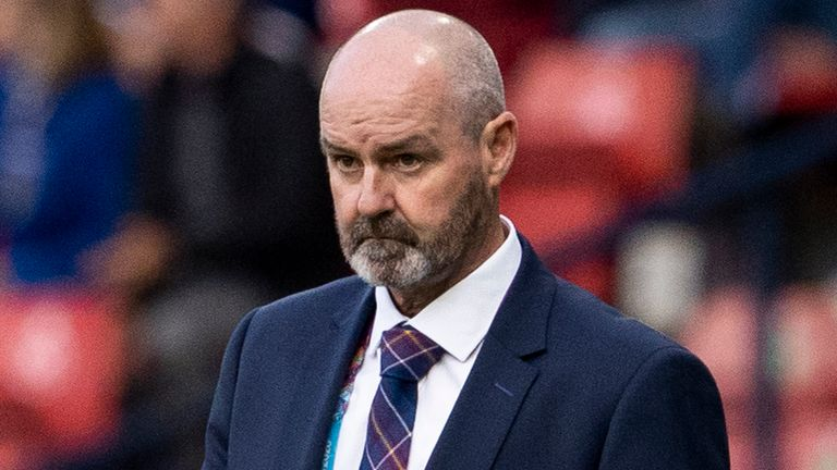 GLASGOW, SCOTLAND - JUNE 22: Scotland Manager Steve Clarke during a Euro 2020 match between Croatia and Scotland at Hampden Park, on June 22, 2021, in Glasgow, Scotland. (Photo by Alan Harvey / SNS Group)