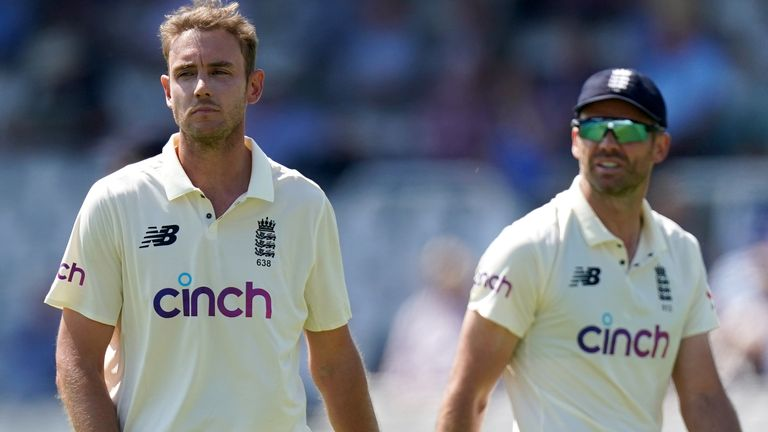 England have not played a Test match without at least one of Stuart Broad or James Anderson since October 2016