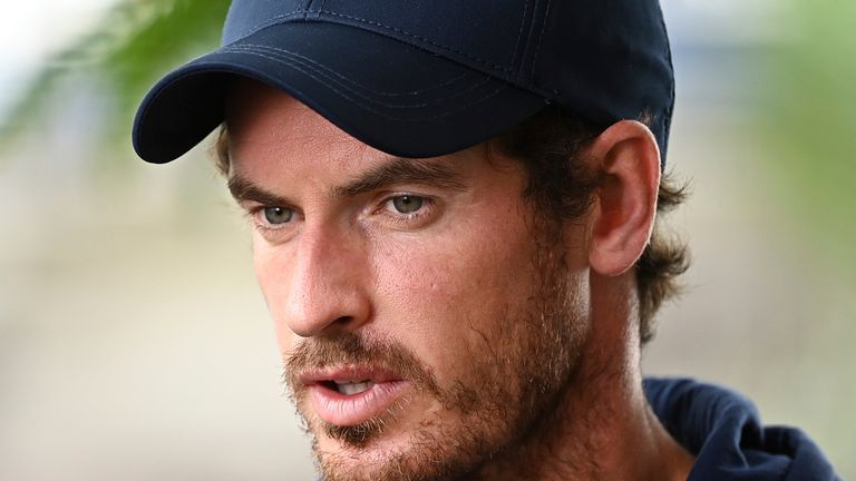 Andy Murray has been urging his fellow tennis players to get the coronavirus vaccination ahead of the US Open