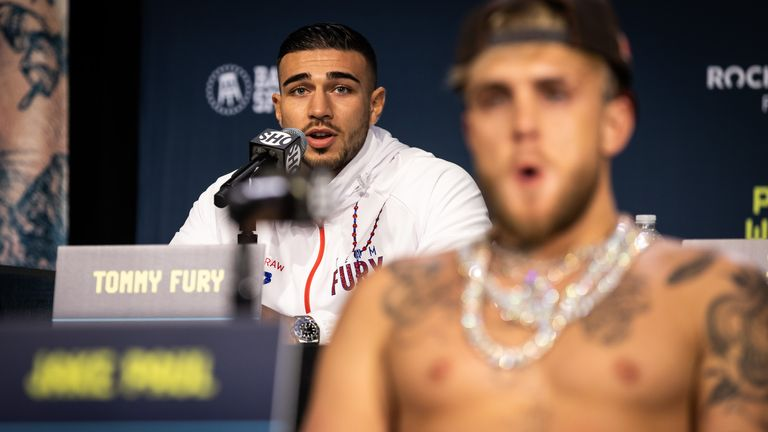 Tommy Fury and Jake Paul