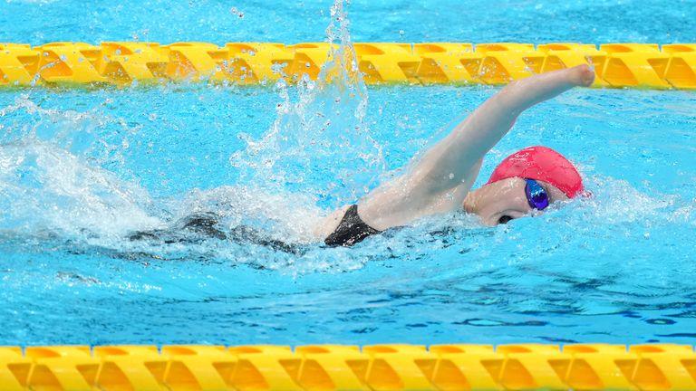 Paraolimpíadas da GB Tony Shaw conquistou o bronze no S9 400 metros livre feminino