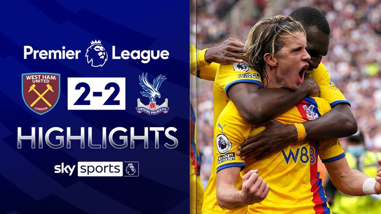 West Ham draw with Palace