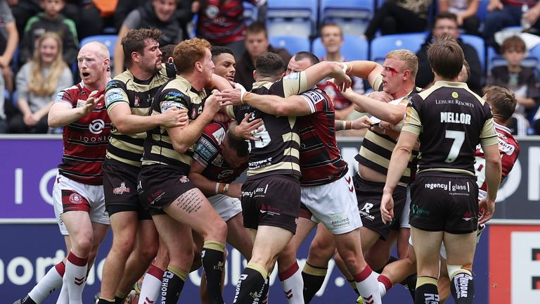 The physicality often spill over as they did during Wigan Warriors vs Leigh Centurion game