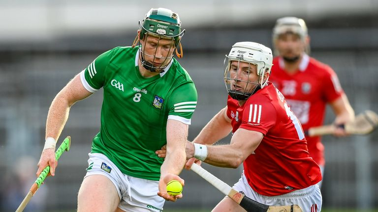 William O'Donoghue of Limerick in action against Patrick Horgan of Cork