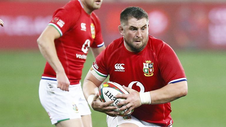Wyn Jones carries into contact for the Lions