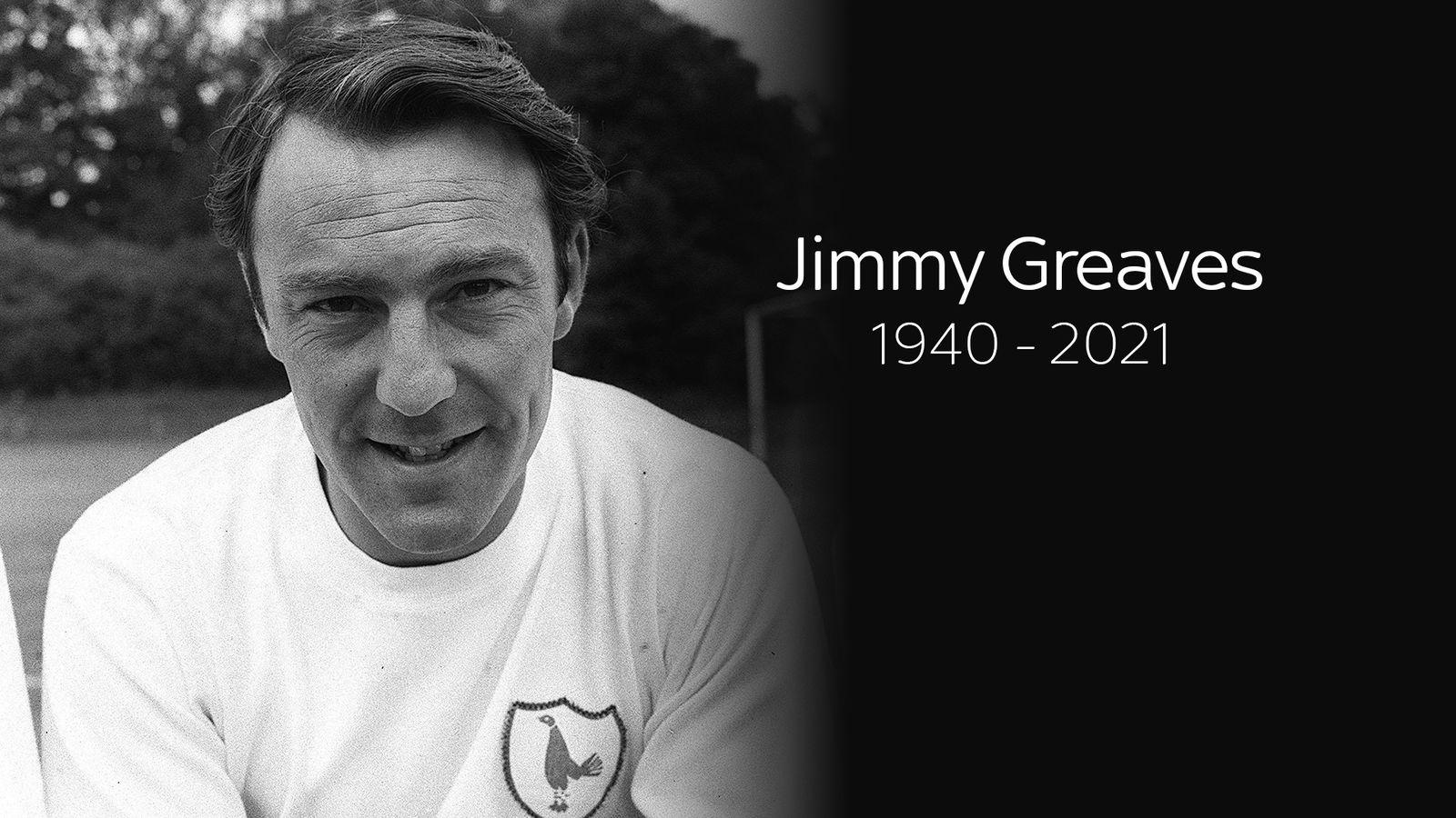 Jimmy Greaves: Former England, Tottenham and Chelsea striker dies aged 81