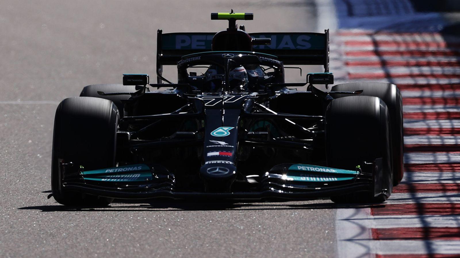 Russian GP, Practice One: Valtteri Bottas fastest ahead of Lewis Hamilton and Max Verstappen