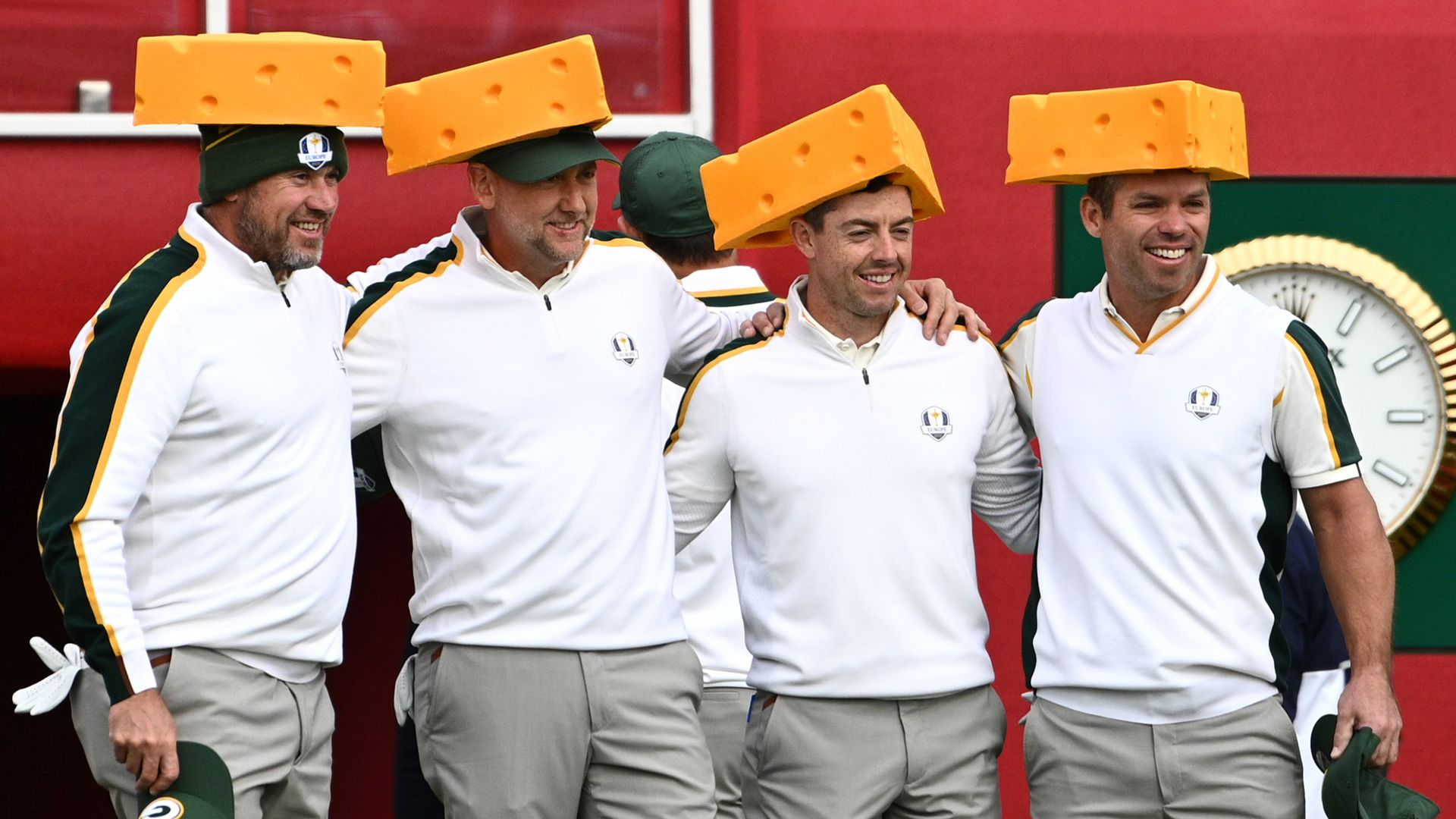 Europe turn on 'cheesehead' charm at Ryder Cup
