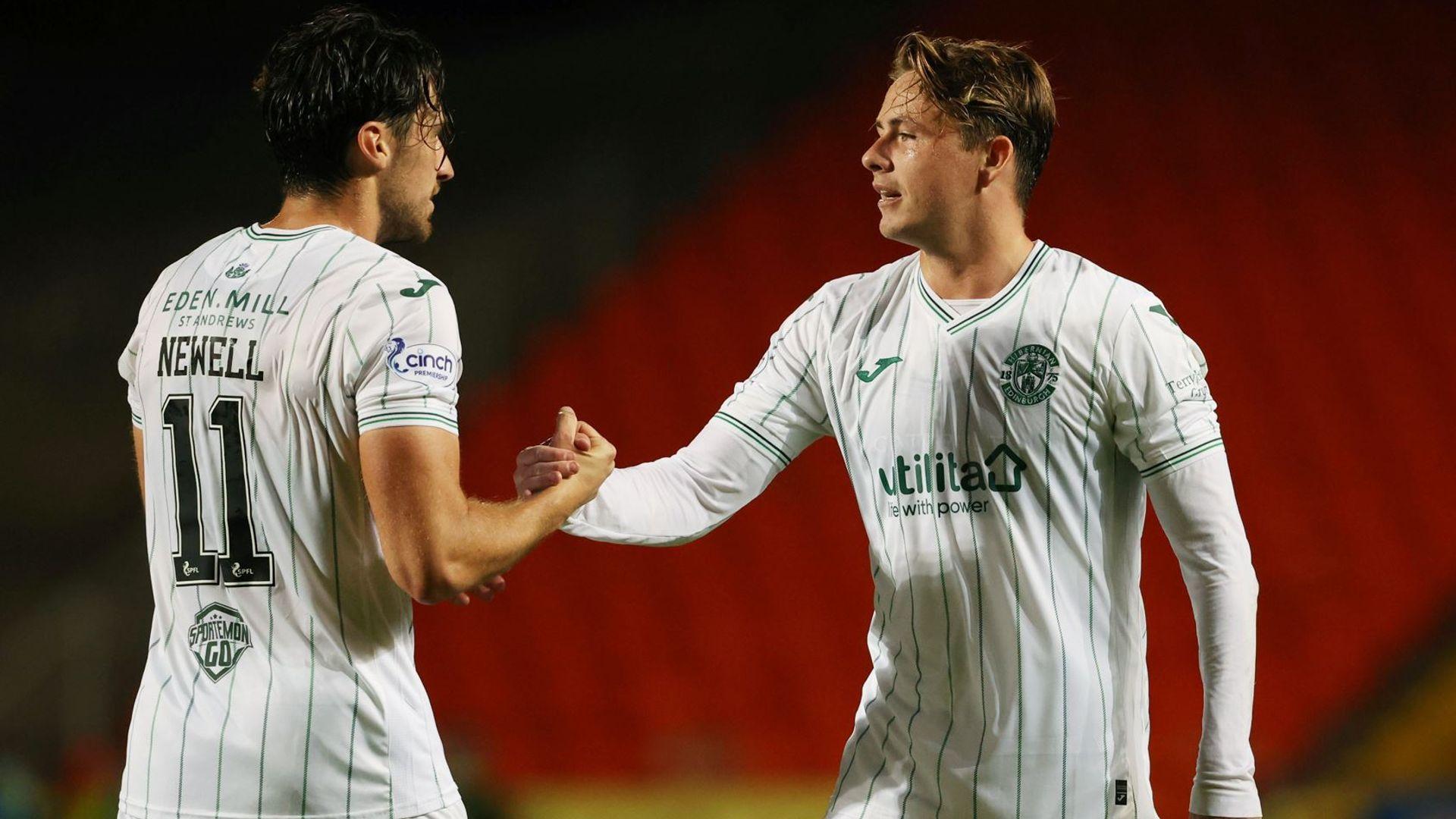 Allan inspires Hibs to League Cup semi-finals