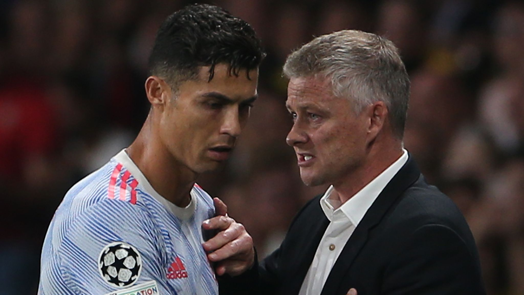 Ole Gunnar Solskjaer explains Cristiano Ronaldo and Bruno Fernandes  substitutions during Man Utd Champions League defeat | Football News | Sky  Sports