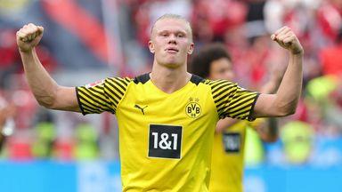 Erling Haaland scored twice in Dortmund's win