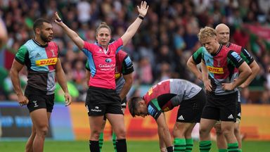 Image from Sara Cox: Gallagher Premiership's first female referee striving to stay at the top of the game