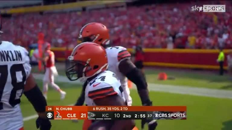 Watch the best bits from the Week One clash between the Kansas City Chiefs and the Cleveland Browns from Arrowhead Stadium.