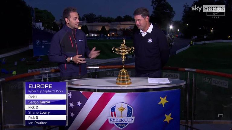 Padraig Harrington talks through the decision-making behind his three captain's picks and explains why he likes the look of his Ryder Cup team