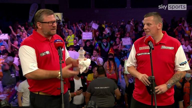 Both James Wade and Dave Chisnall conceded that they felt nervous playing for England but expect to improve in their next game.