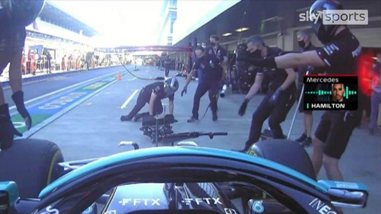 Hamilton sends front jack man flying