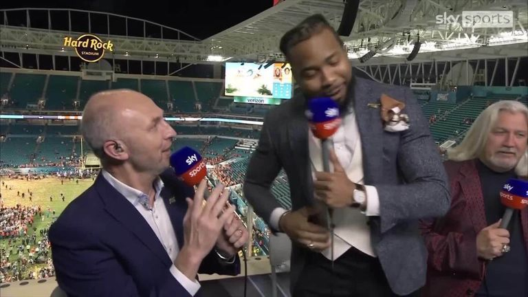 New 49ers cornerback Josh Norman couldn't help himself from stopping Neil Reynolds on his sign off from the Super Bowl LIV coverage in 2020.