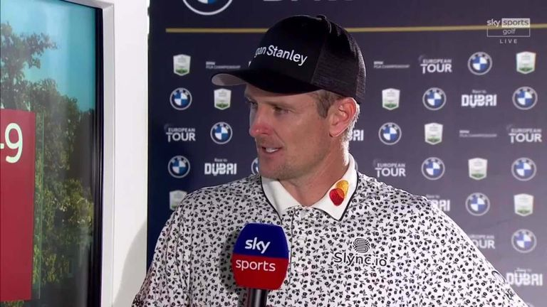 Justin Rose was happy to 'keep rolling with the leaders' as a four-under 68 took him just three off the pace at the halfway stage of the BMW PGA Championship