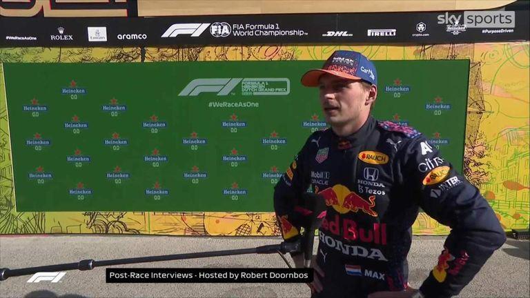 Max Verstappen, Lewis Hamilton y Valtteri Bottas ocuparon los tres primeros lugares del podio en el Gran Premio de Holanda.