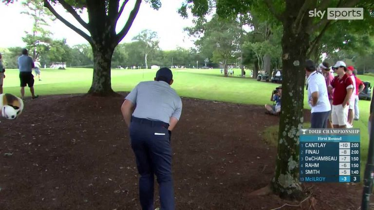 Day one of the Tour Championship in Atlanta featured a number of stunning shots from the likes of Viktor Hovland, Rory McIlroy and Jon Rahm, as well as an ace from Harris English.