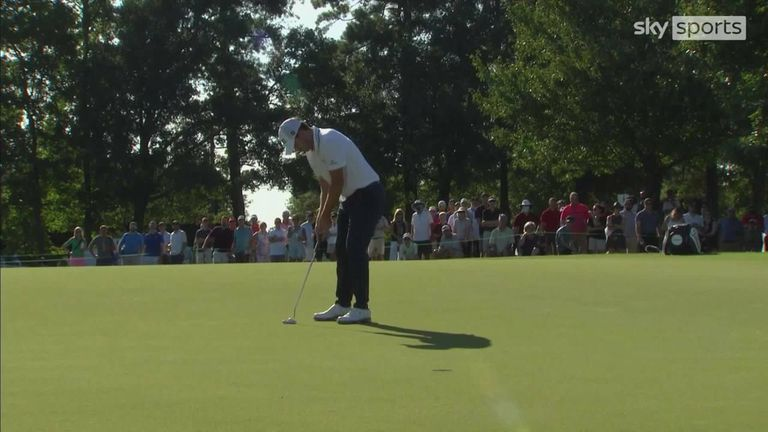 A look back at the best of the action from the second round of the PGA Tour's season-ending Tour Championship at East Lake Golf Club.
