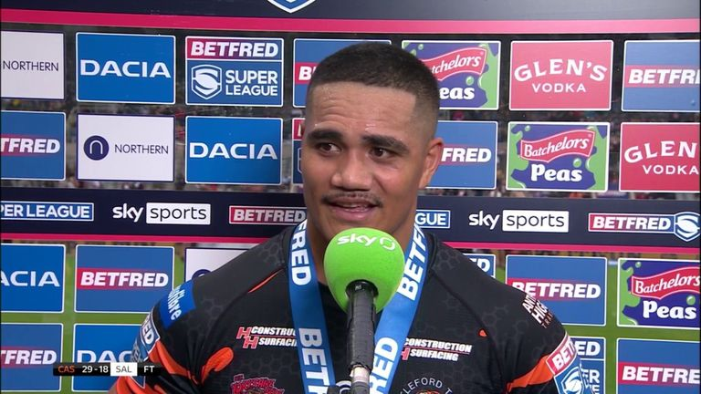 Castleford's Peter Mata'utia hopes his team can continue their momentum following the victory over Salford