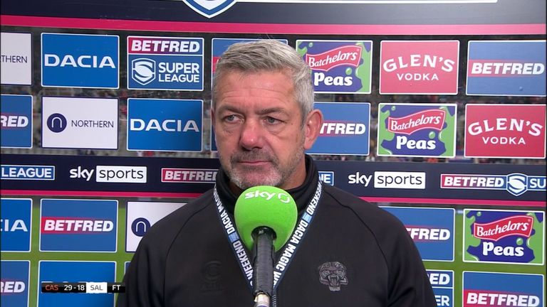 Daryl Powell says his Castleford side had to battle hard to secure the victory over Salford in difficult circumstances