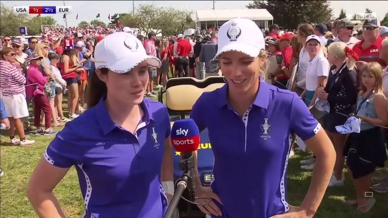 Leona Maguire says she could not have asked for a better start to her Solheim Cup career after teaming up with Mel Reid to defeat the Korda sisters