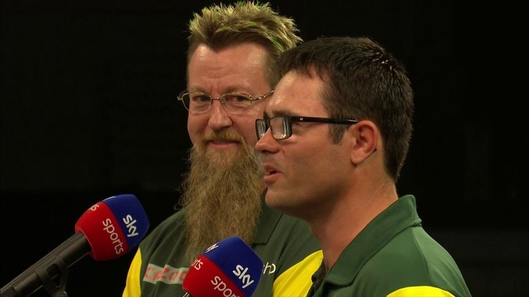 Simon Whitlock and Damon Heta say they aren't just playing for Australia but for Kyle Anderson as well and will spur them on in the World Cup of Darts.