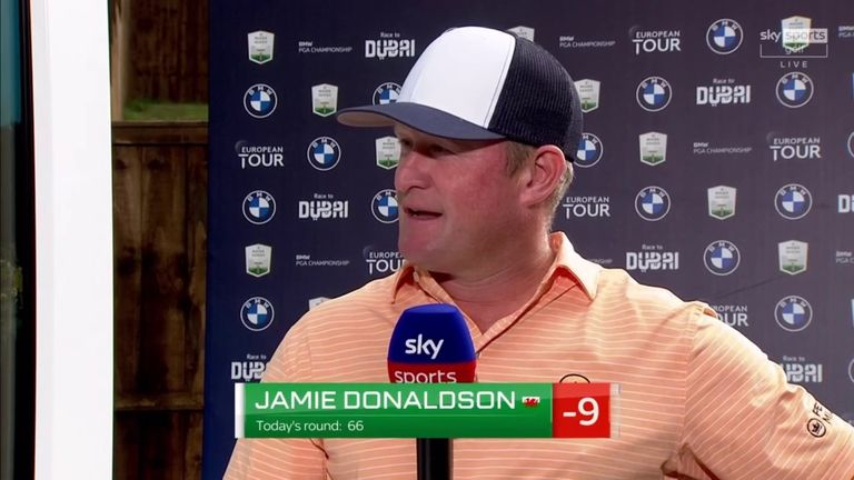 Jamie Donaldson said it was unbelievable to have three eagles in the second round of the BMW PGA Championship and he also reflected on his qualification for the 2014 Ryder Cup