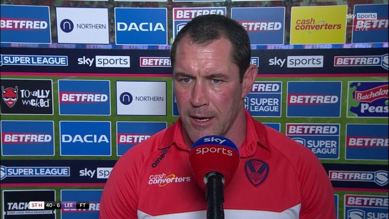 Kristian Woolf felt the St Helens defence was outstanding and praised the man of the match performance from Walmsley
